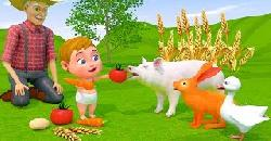 Little Baby Fun Go Farm Share Food For Animal Nursery Rhymes For Children