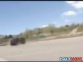 Jeep attempting to drift Rolls over.