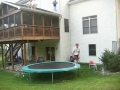 A 20-foot trampoline Jump Off A Deck