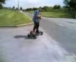 Motorized skateboard looks real fun