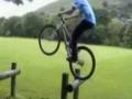 Amazing bike stunt -- balancing and jump act