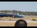 F18 Fighter Jet does a good ground routine