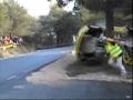 Crazy racecar accident... hope he wore his seatbelt