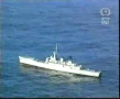 Military video: Torpedo hits a Destroyer