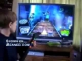 7 year old Guitar Hero addict