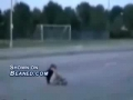 Motorcycle rider gets clipped hard and goes down