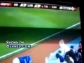 Batboy gets nailed inthe face with a ball