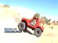 Jeep tries to climb a steep hill