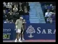 Roger Federer's awesome tennis shot