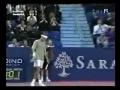 Roger Federer's awesome tennis shot
