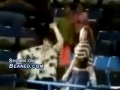 People caught dancing at a game
