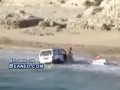 Jeep gets stuck at the beach