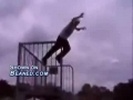 Rollerbladers back flip turns out to be a big mistake