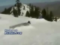 Skier falls out of the skiies and eats crap