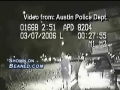 Cop gets dragged along side a car