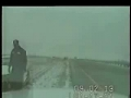 Another car sliding in the snow accident