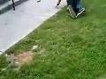 Skater snaps leg