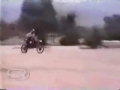 Motorcycle jump gone way wrong
