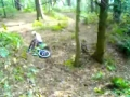 Downhill rider eats crap