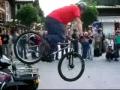 Tight rope biker