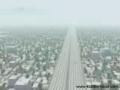 Flight Landing on the Road