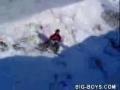 Snowboarder Breaks legs