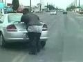 Fat Man Pushing Car