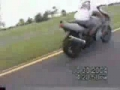 Girl Falls off Motorcycle