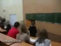 Student goes crazy in class