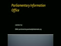 Parliamentary Information Office - Parliamentary Yearbook